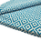 Thumbnail: Turquoise and White Dimond Rug