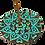Thumbnail: Turquoise Incense Burner Mandala Hearts and Flowers