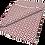Thumbnail: Tapete Diamante Bordeaux e Branco