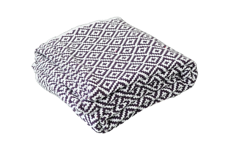 White and Purple Dimond Rug