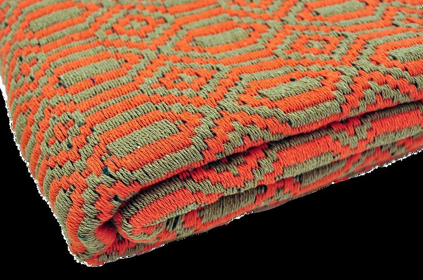Orange and Earth Geometric Rug