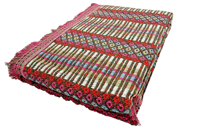 Pink and Honey Ethnic Pattern Rug