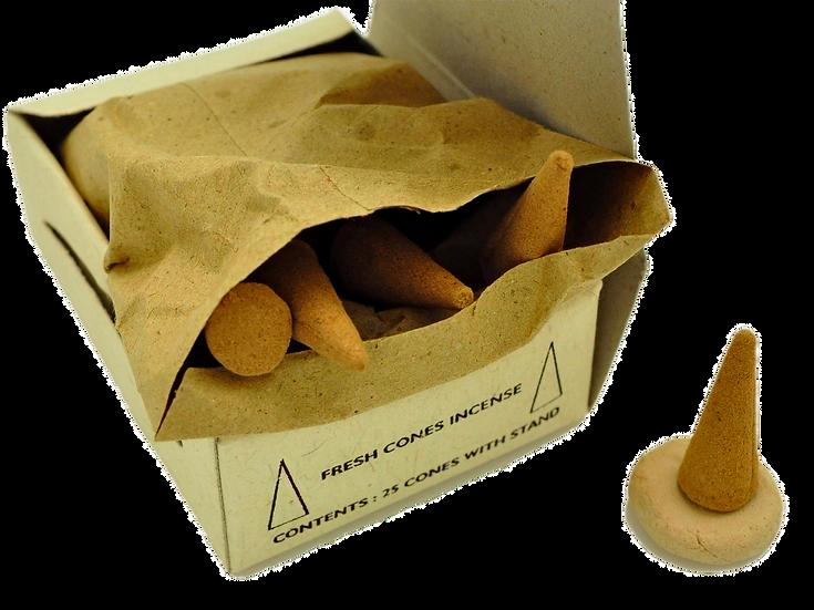 Natural Incense Cones Saffron Aroma