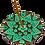 Thumbnail: Queimador de Incenso Mandala Corações e Flores Verde