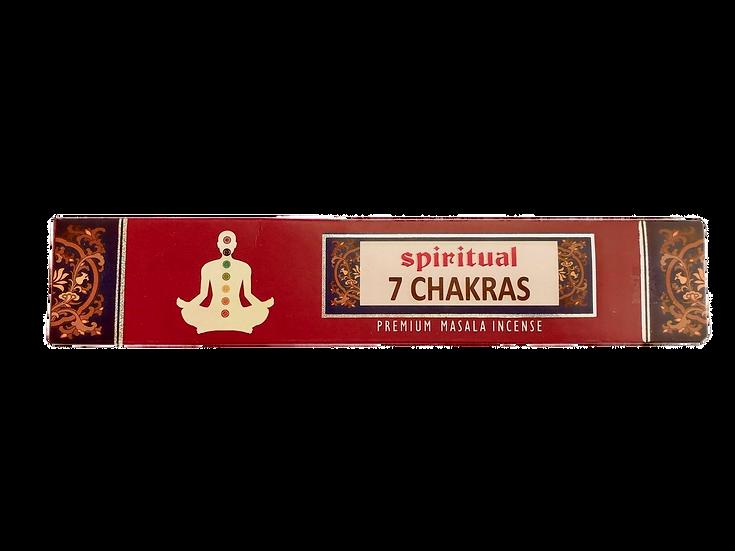 Incensos Indianos 7 Chakras Espirituais