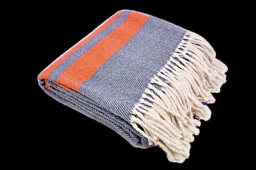 Herringbone Blanket with Stripe