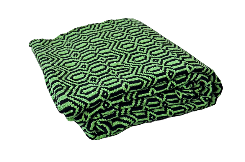 Green and Black Geometric Rug