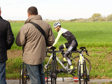 How to warm up for a cycling event.
