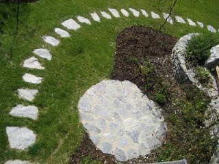 Placing stepping stones on your lawn