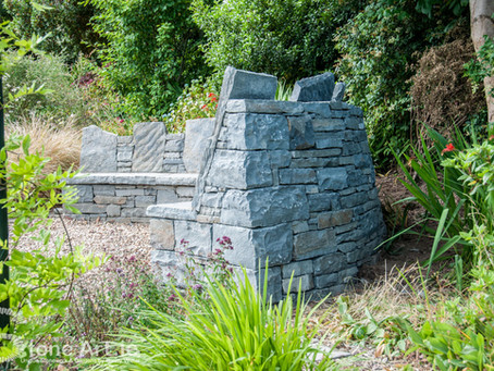 Stone seating area Greystones