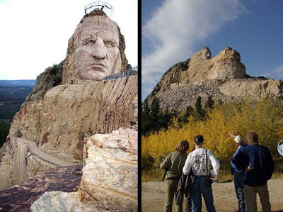 Stone art in its most gigantic of scales. The Crazy Horse Memorial