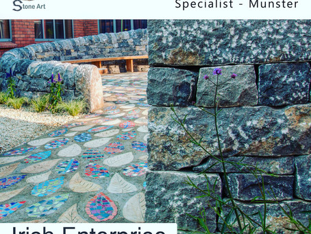 Stone Art Awarded: Best Bespoke High-End Stonework Specialist - Munster. In Irish Enterprise Awards