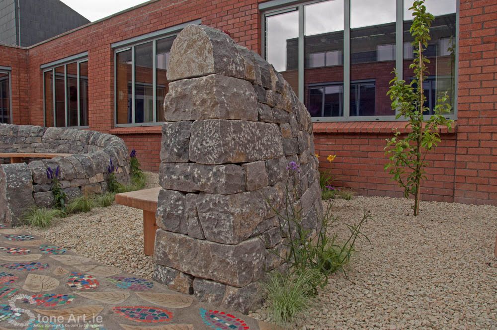 Dry stone outdoor classroom
