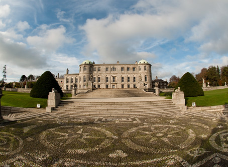 Pebble mosaic restoration. Powerscourt Estate. Co. Wicklow