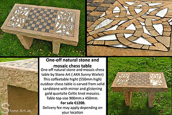 Natural stone chess/ coffee table