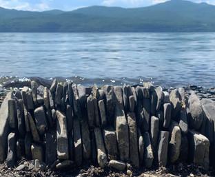 Luke Bonang at Lake Champlain, Vermont, USA