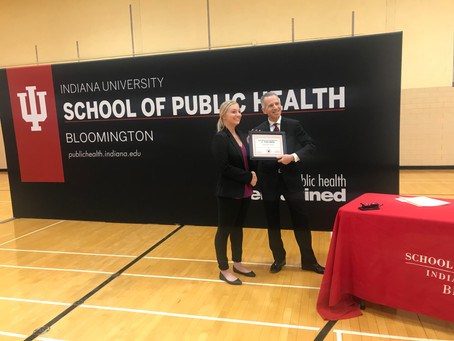 Kate won First Place Award at 2019 Indiana University School of Public Health Research Day!