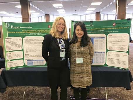 Shieun and Tess presented their posters at 2018 Indiana Public Health Association Meeting