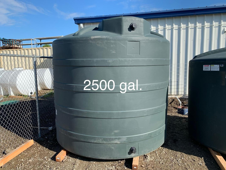 2500 GAL. WATER STORAGE