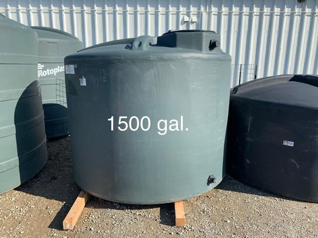 1500 GAL. WATER STORAGE