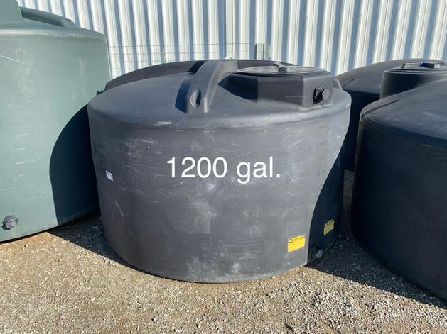 1200 GAL. WATER STORAGE