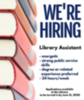 Announcement - Hiring Library Assistant.