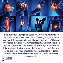 PRP Joint Injection, a natural and effec