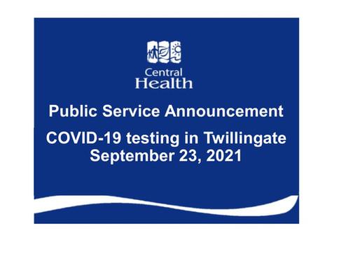 COVID-19 testing in Twillingate