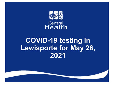 COVID-19 testing in Lewisporte for May 26, 2021