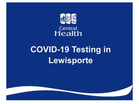 COVID-19 testing in Lewisporte