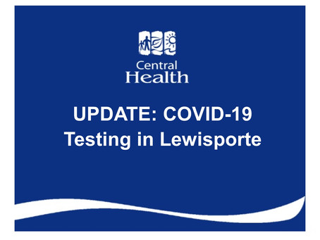 UPDATE: COVID-19 testing in Lewisporte