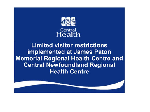 Limited visitor restrictions implemented at JPMRHC and CNRHC