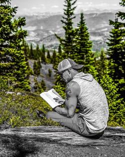 reading bible green