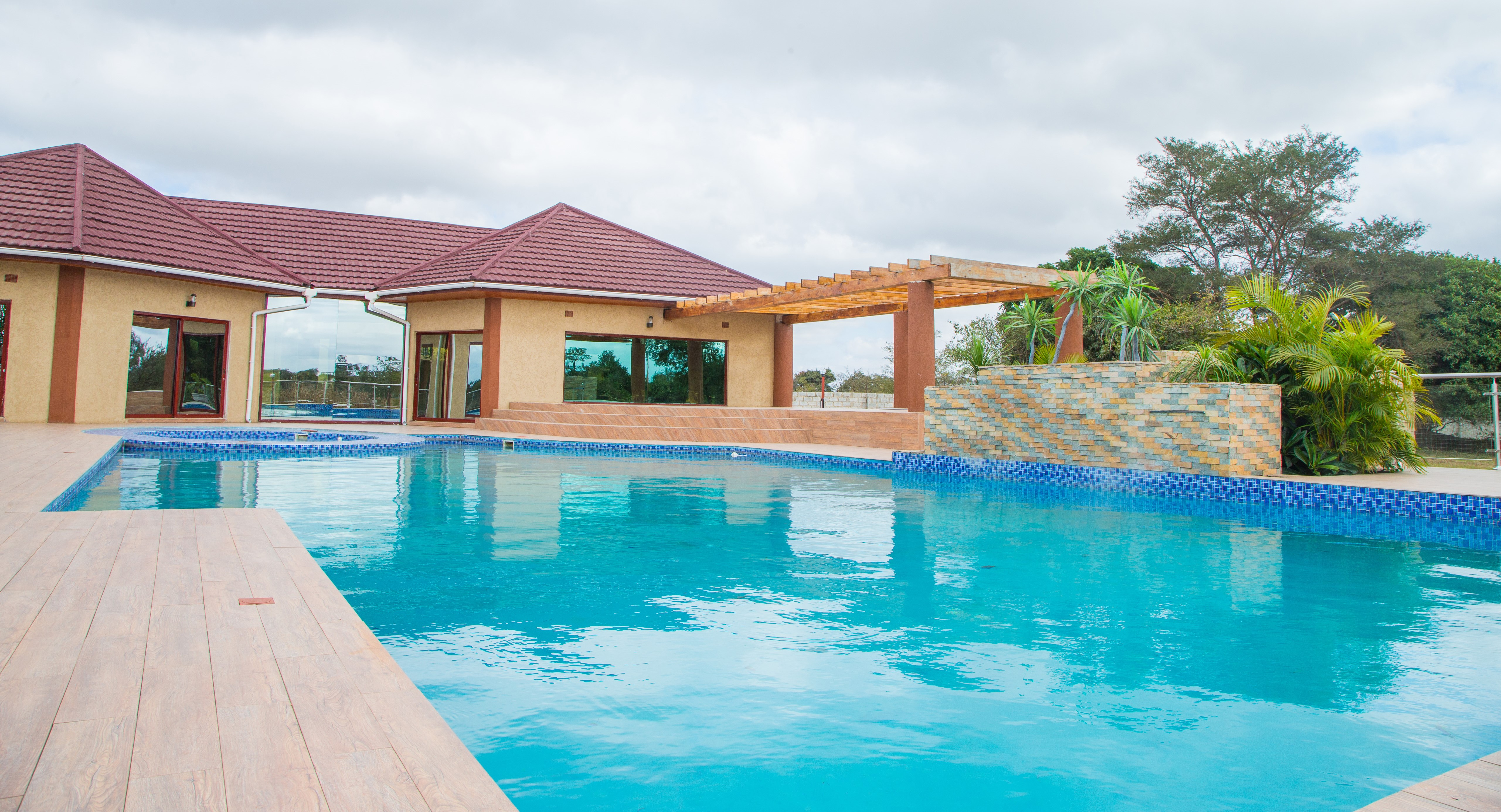 pool + clubhouse