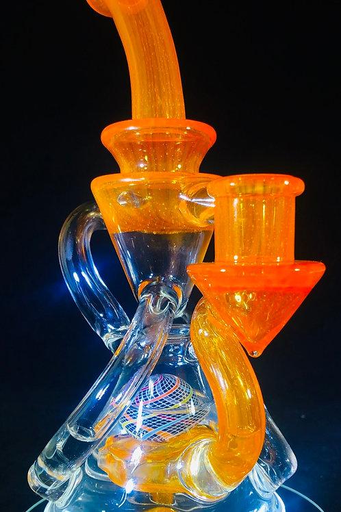 Justin Ceiro Double Uptake Recycler w/Ratti ball perk (Orange)