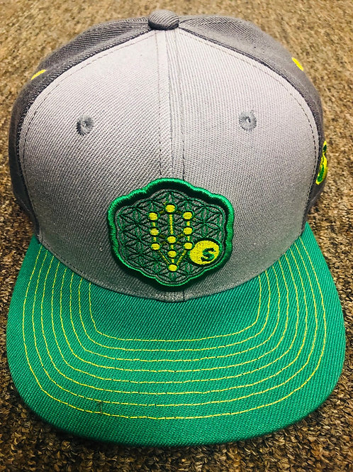 Seedless Seed Flower of Life (Green) SnapBack