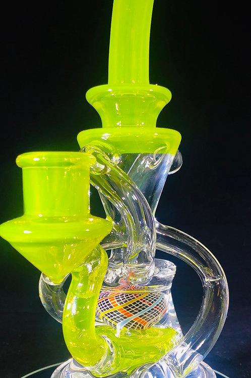 Justin Ceiro Double Uptake Recycler w/Ratti ball perk (Lime)