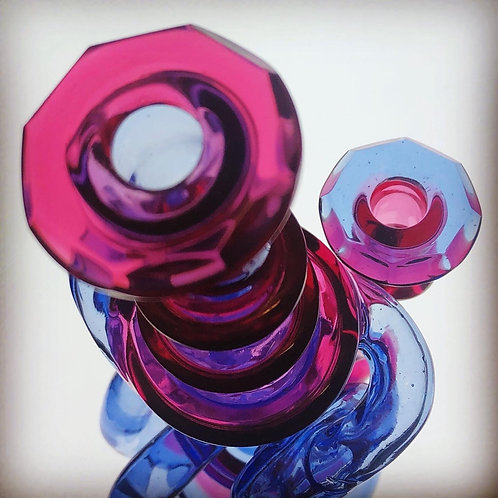 Cheebo Glass double uptake Recycler with matching cap
