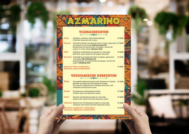 Menu Card - Azmarino