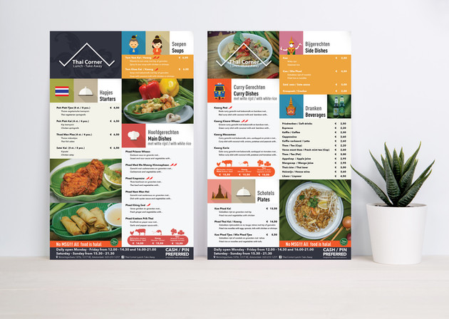 Menu Card - Thai Restaurant
