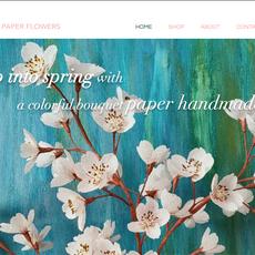 Web Design - Paper flowers Hand made