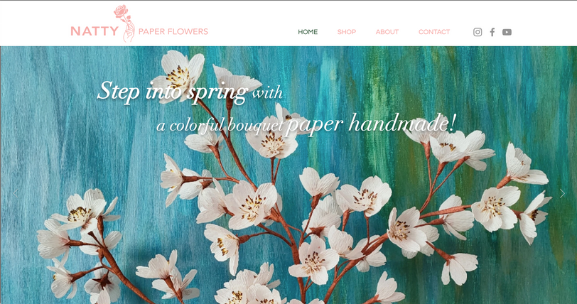 Web Design - Crepe Paper Flowers Handmade