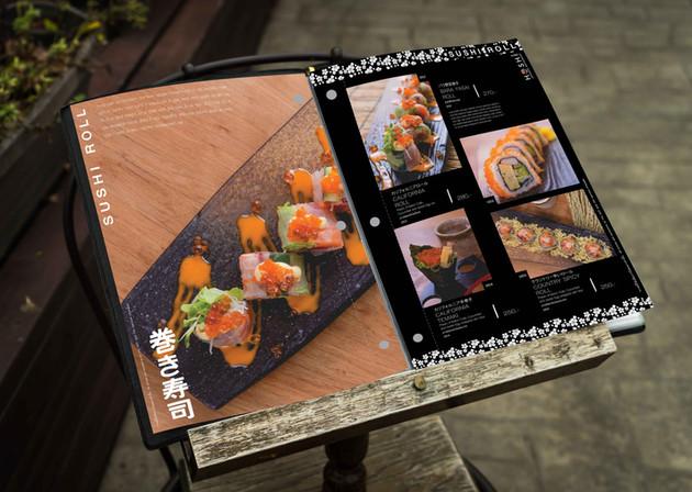 Menu Book - Japanese Restaurant