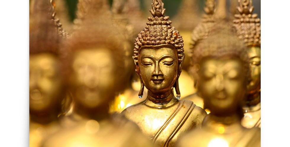 Poster: Statues of gold buddha
