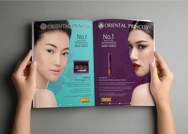 Magazine Ad. Air Asia Airline - Cosmetic Brand