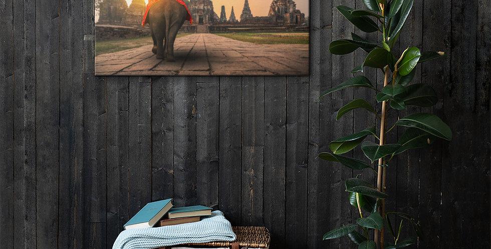 Canvas: Elephant in Ayutthaya Historical Park