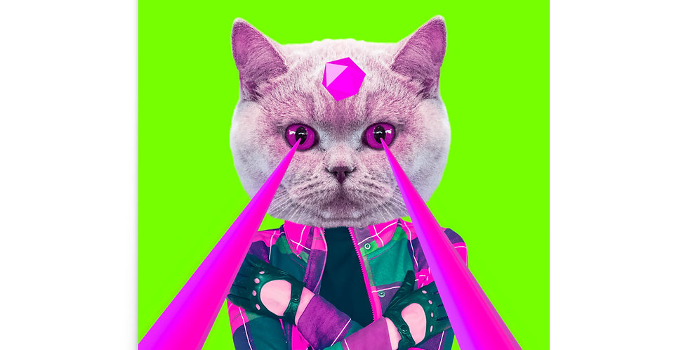 "Poster: ""Power cat"""