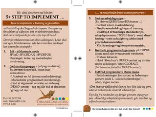 Eksempler på step til et medarbejderdrevet træningsprogram