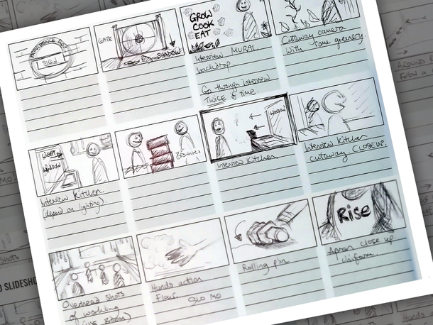 Rise storyboard structure