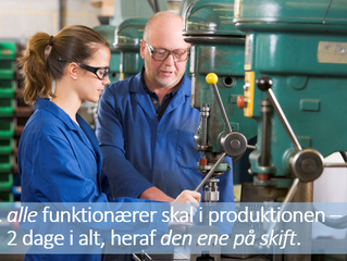 Funktionærer skal ud og observere virkeligheden hos produktionsmedarbejderne